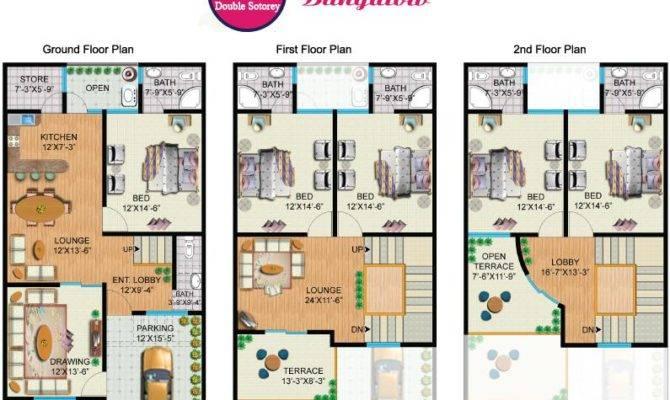 Sweet Homes Yards Double Storey Bungalow Internal Plan