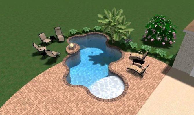 Swimming Pool Freeform Shape Raised Fire Pedestal