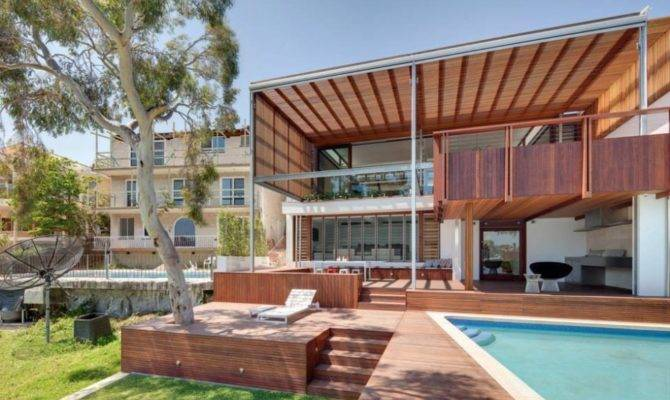 Swimming Pool Garden Multi Level Home Revealing Amazing Views
