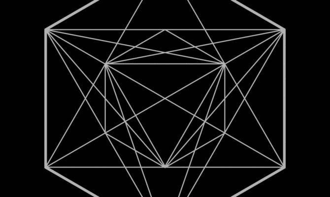 Symmetrical Sacred Geometry Design Vector