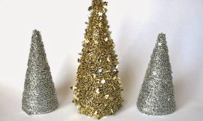 Table Top Tinsel Tree Diy Holiday Decor Ideas Livingly