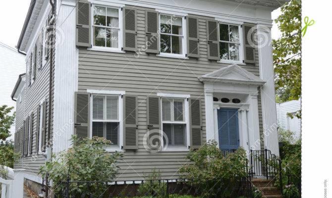 Tan Federal Style House Stonington Connecticut