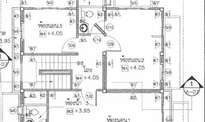 Thai House Plans Bedroom Nice