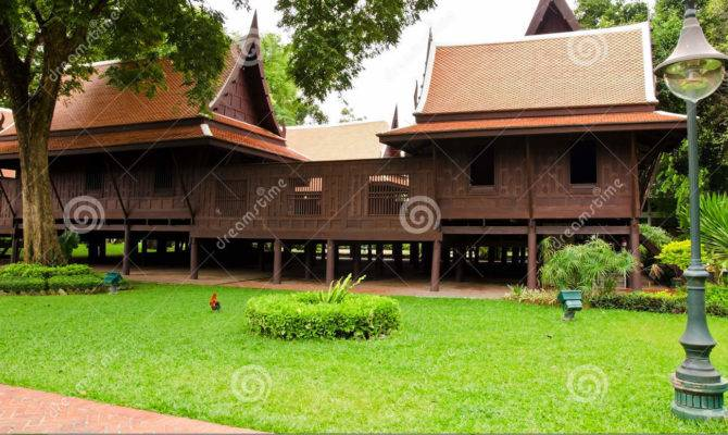 Thai Style Traditional Wooden House