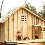 Thatfamilyshop Little House Prairie Dollhouse Playset