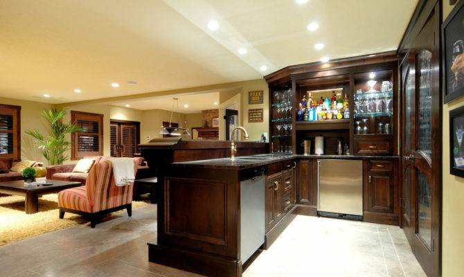 Themed Basement Bar Design Can Often Confused House
