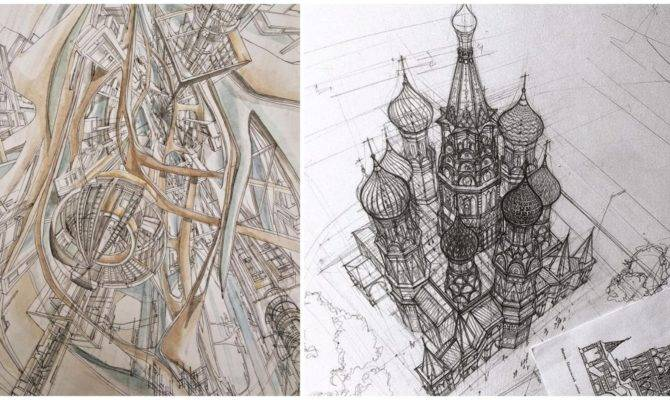 These Beautiful Architectural Sketches Show Hand Drawing