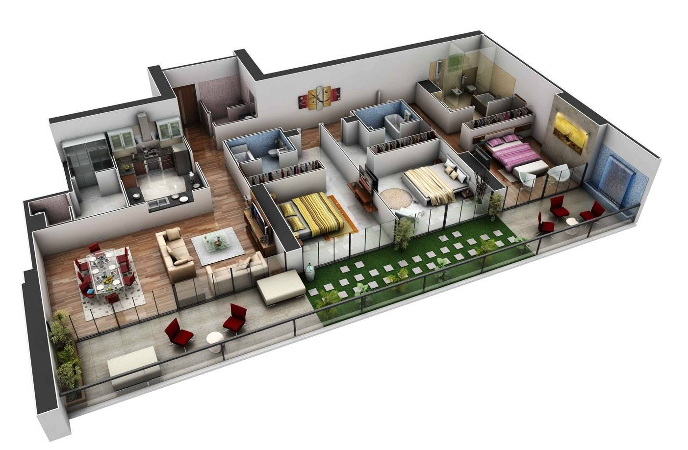 Awesome 3 Bedroom 3 Bathroom House Plans Pictures House Plans