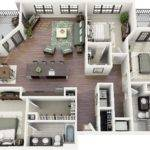 Three Bedroom Apartment House Plans