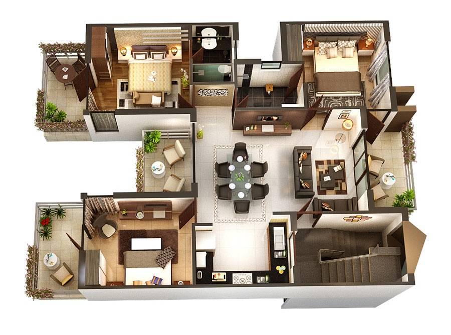 Three Bedroom Floor Plans Jpeg House Plans 4851