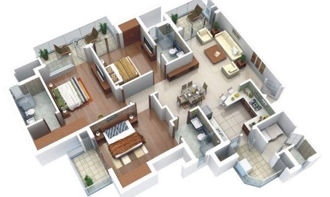 Three Bedroom House Apartment Floor Plans