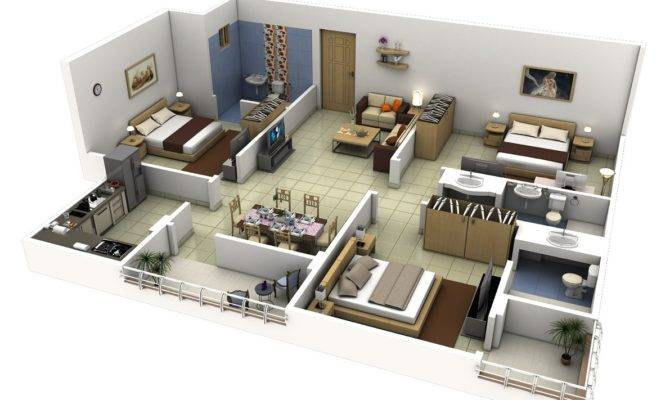 Three Bedroom House Design Interior Ideas