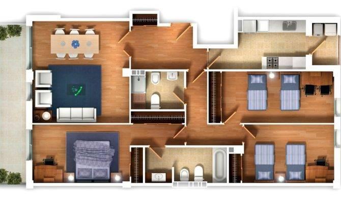 Three Bedroom Houseapartment Floor Plans