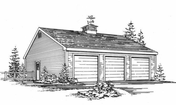 Three Car Garage Building Plans Blueprints Ebay