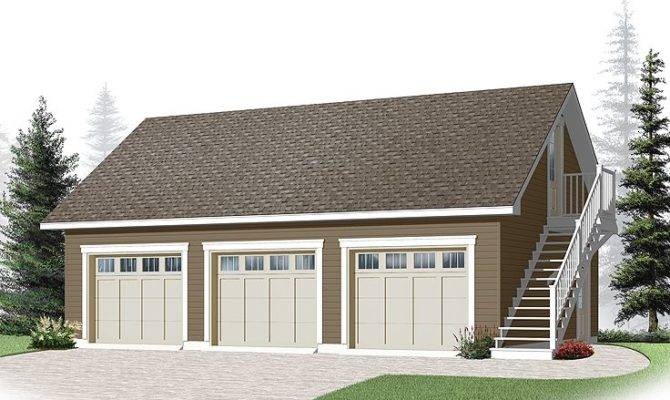 Three Car Garage Plans Loft Plan Cape