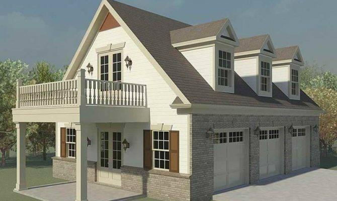 Three Car Garage Plans Loft