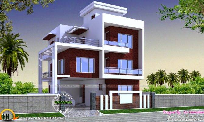 Three Floor Contemporary House Kerala Home Design
