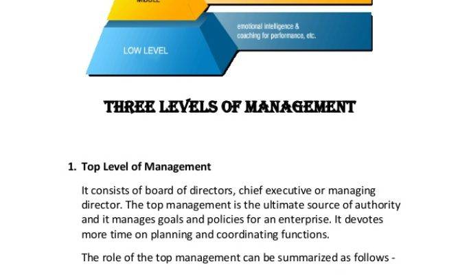 Three Levels Management