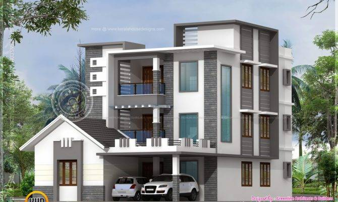 Three Storied Modern Luxury House Kerala Home Design Floor Plans