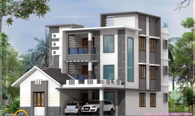 Three Storied Modern Luxury House Kerala Home Design