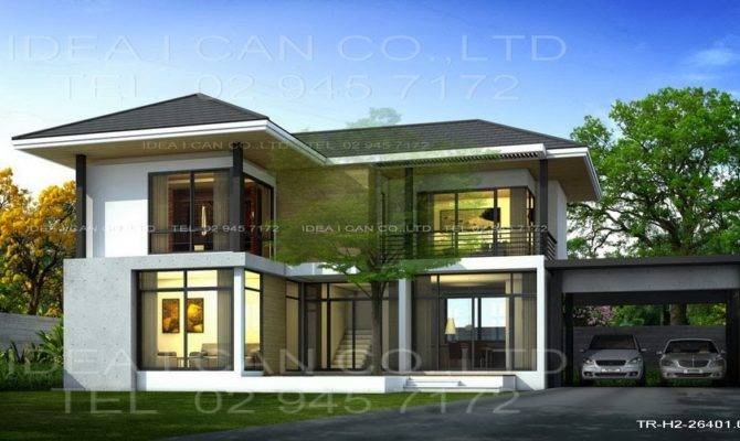 Three Story Home Plans Modern Style Living Area Plan