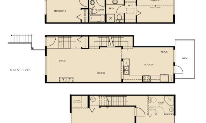 Three Story Townhouse Floor Plans Gurus