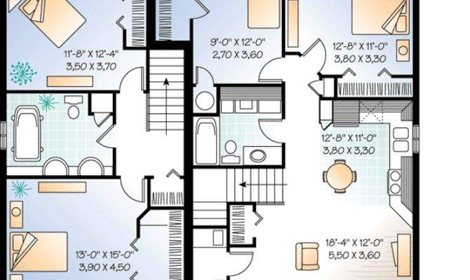 Three Unit Apartment House Plan Architectural