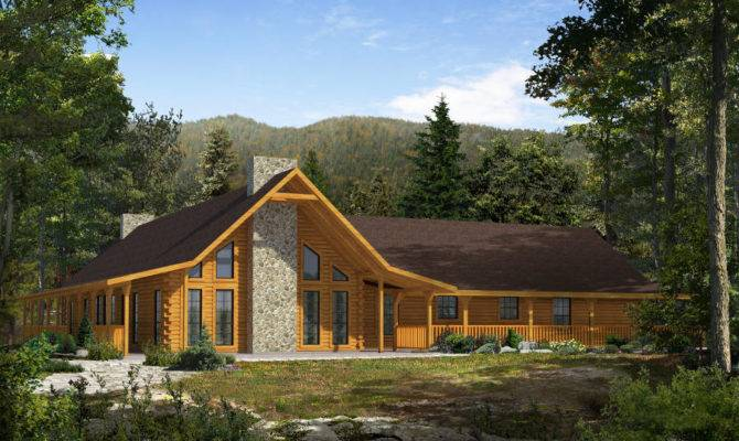 Timber Log Home Floor Plans
