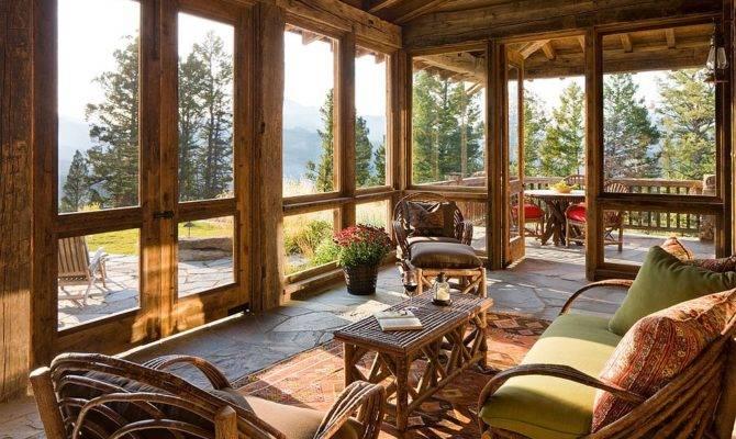 Timeless Allure Cozy Creative Rustic Sunrooms