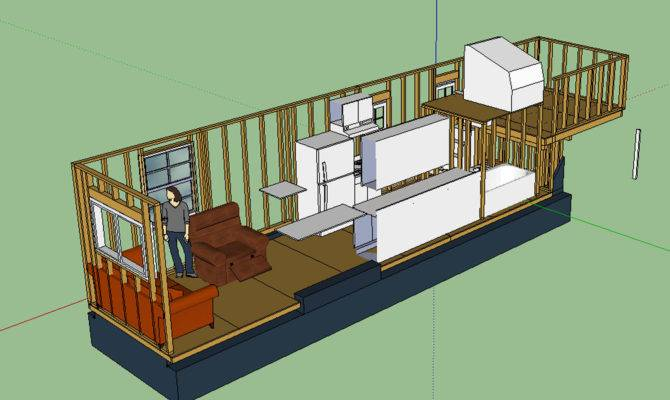 Tiny House Layout Transparent Starboard Wall