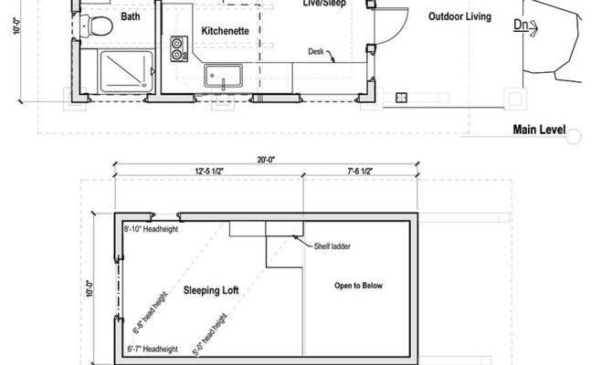 Tiny House Plans Loft Pdf Wooden Storage Shed