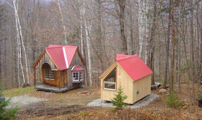 Tiny House Shed Compound New England Three Micro Cottages