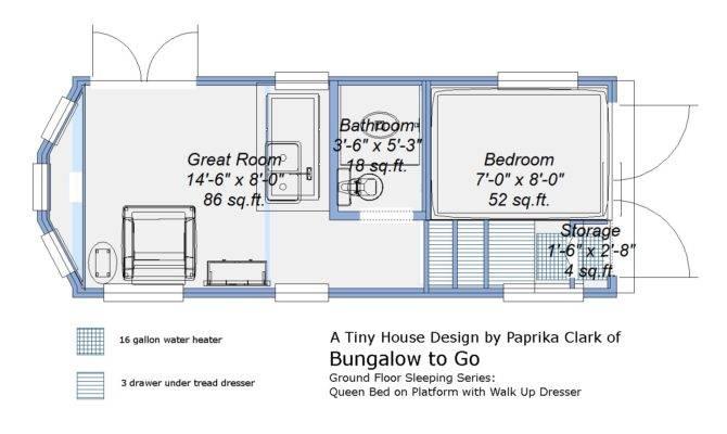 Tiny House Trailer Plans Ground Floor Sleeping