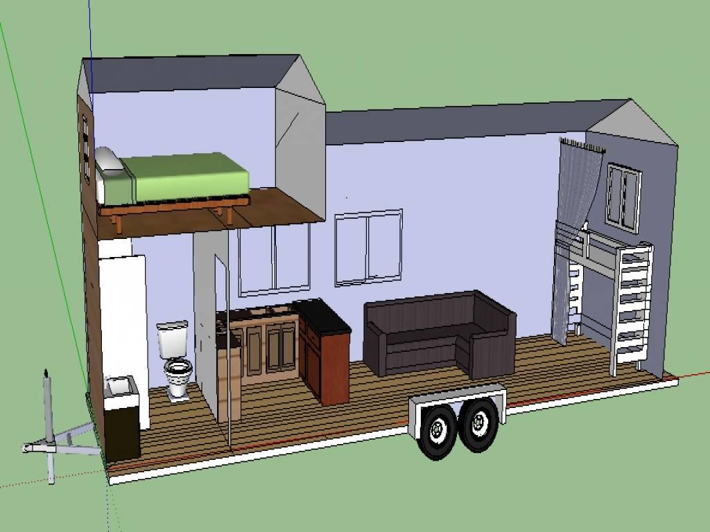 Tiny House Trailer Plans Modern Plan - House Plans  #29