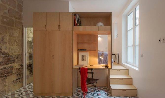 Tiny One Bedroom Studio Apartment Parisian Charm