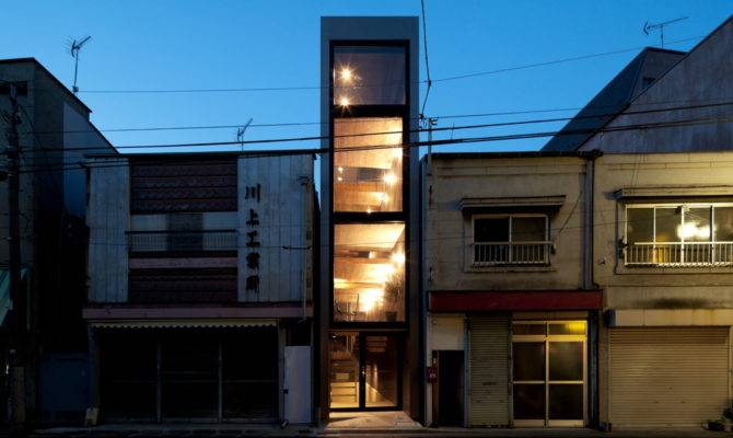 Tiny Tokyo Ultra Narrow House Slotted Into Alley