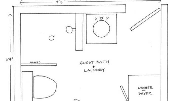 Top Bathroom Blueprints Space