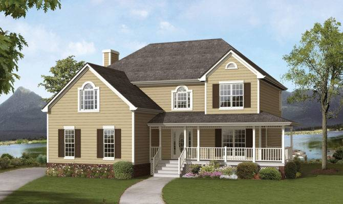 Top Country Style House Plans Wrap Around Porches