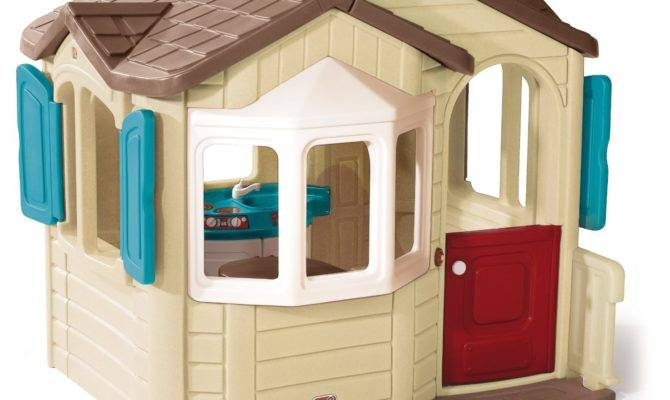 Total Fab Outdoor Playhouse Kitchen Inside