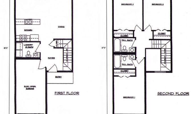 Town House Floor Plans Over