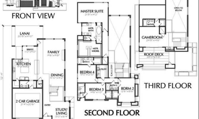 Town House Plans Modern Luxury Townhouse Floor