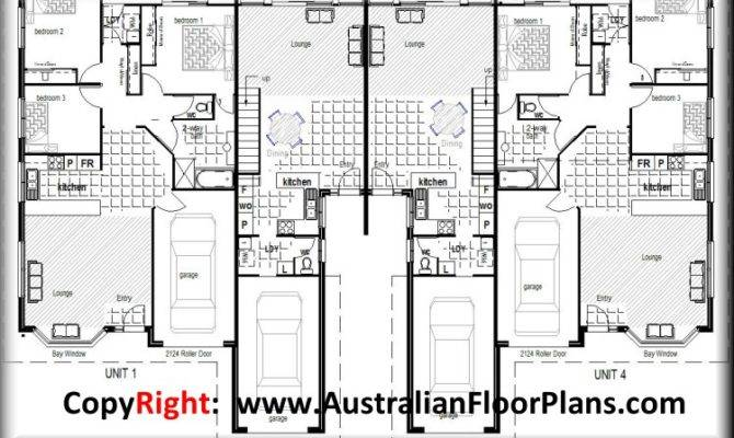 Townhouse Duplex House Construction Floor Plans Bluepri