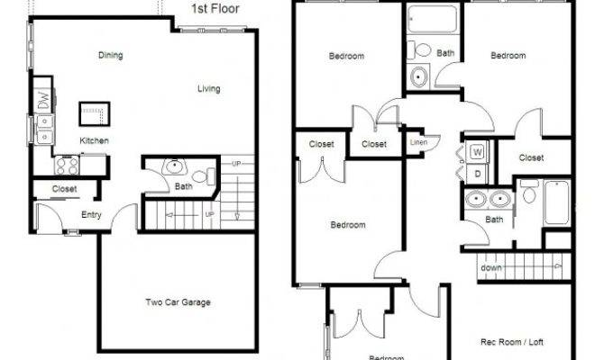 Townhouse Floor Plans Bedroom Pixshark