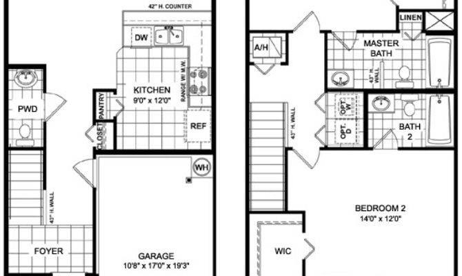 Townhouse Floorplans Unique House Plans