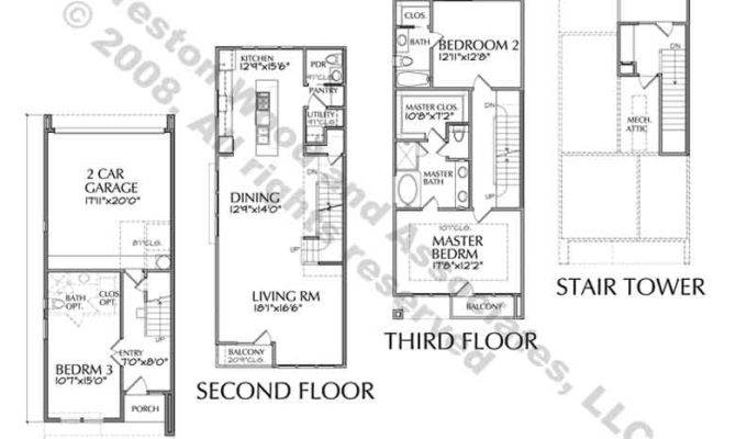 Townhouse Plans Designs Homes Floor