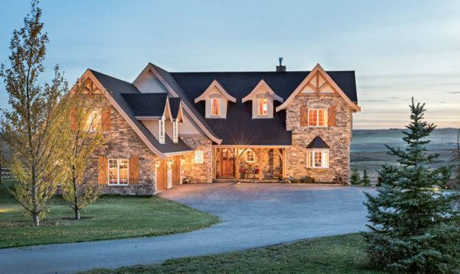 Traditional Design Canadian Timber Home