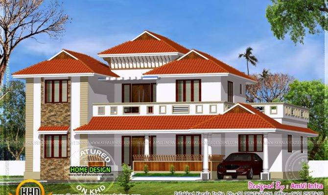 Traditional Home Modern Elements Kerala Design
