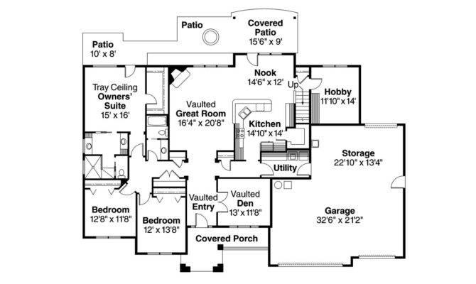 Traditional House Plan Abbington Floor