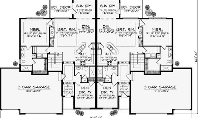 Traditional House Plan Bedrooms Bath