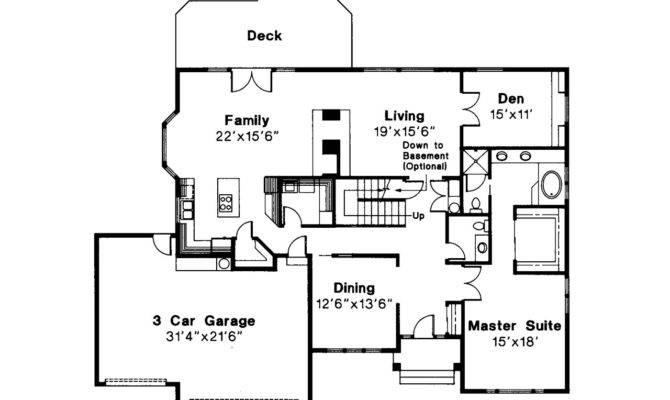 Traditional House Plan Berkley Floor